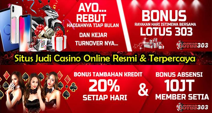 Situs Judi Casino Online Resmi & Terpercaya